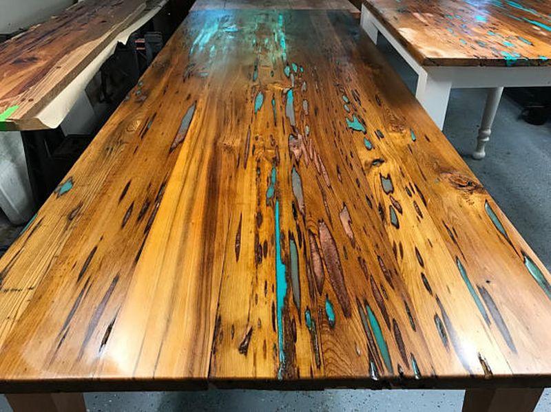 Wood Eyes Wood Works's Glow in the dark table