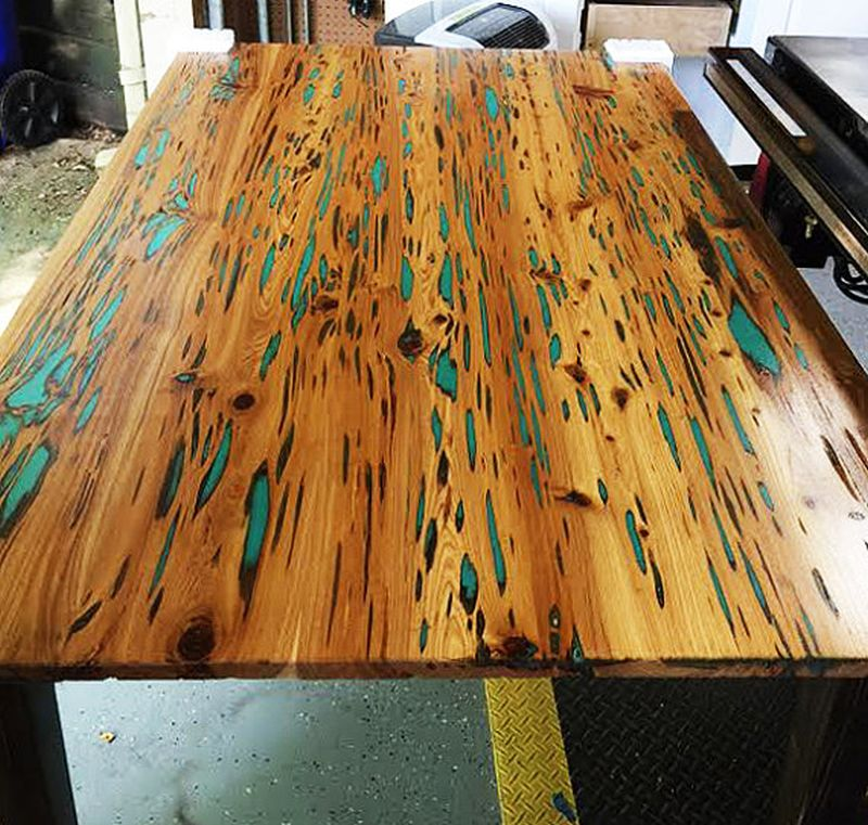 Glow in the dark table by WoodEyesWoodWorks