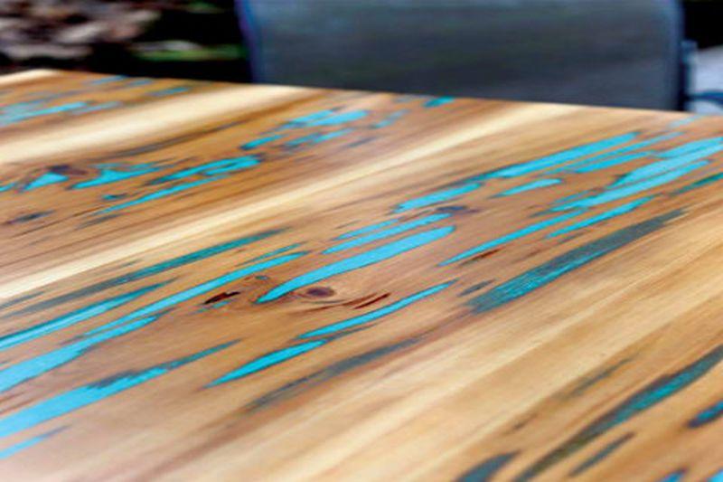 Glow in the dark table by Wood Eyes Wood Works
