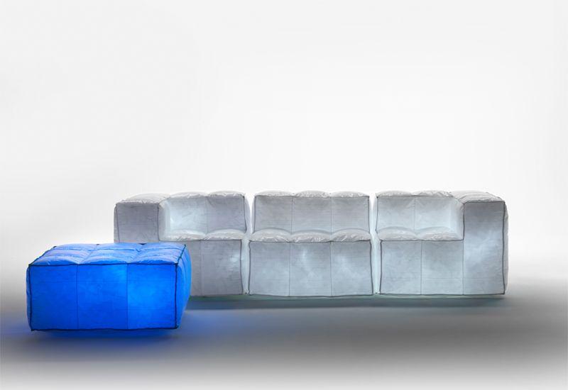 Air-filled light sofa