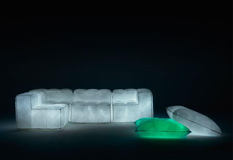 Air-filled glow in the dark sofa
