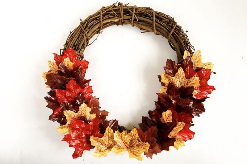 Halloween Fall foliage leaf wreath