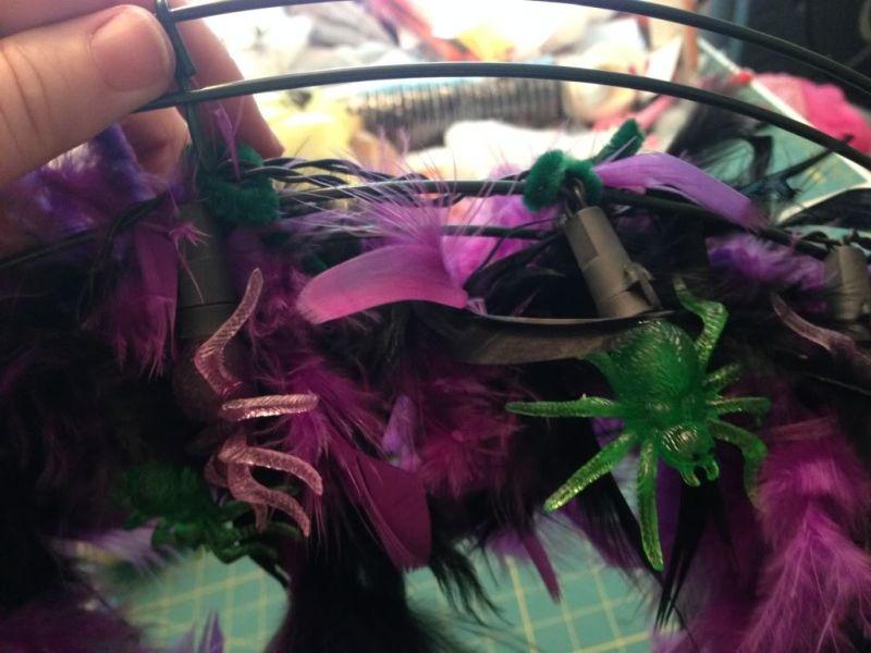 Halloween cute glam spider wreath