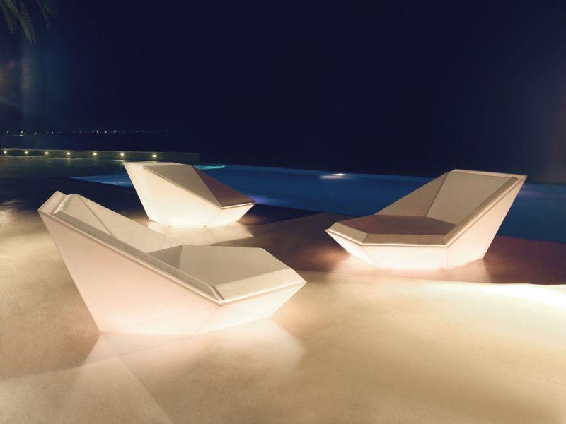 Illuminated faz outdoor daybed