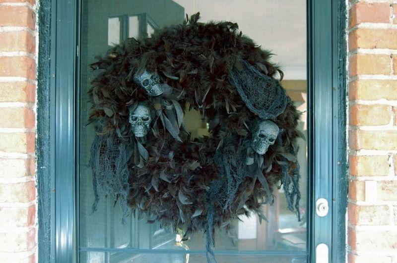 Glittery Skelton wreath
