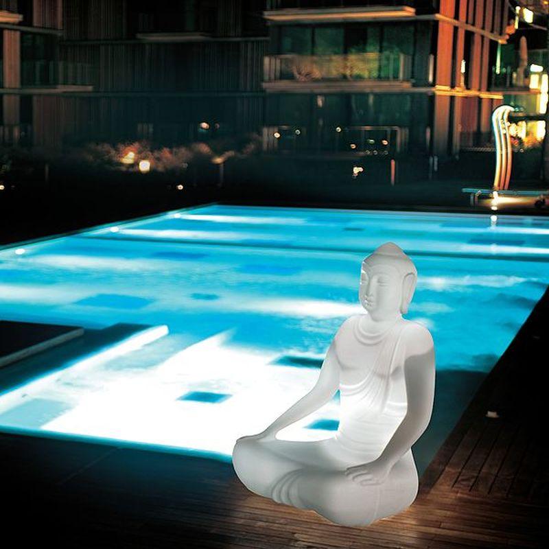 Sereno illuminated Buddha outdoor armchair