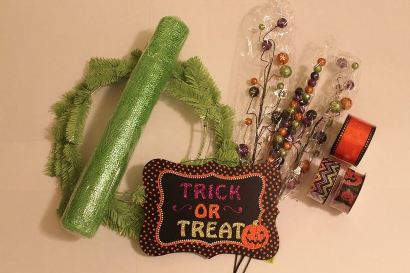 DIY mesh wreath Halloween
