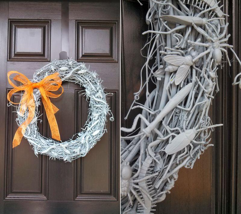 Halloween bug wreath