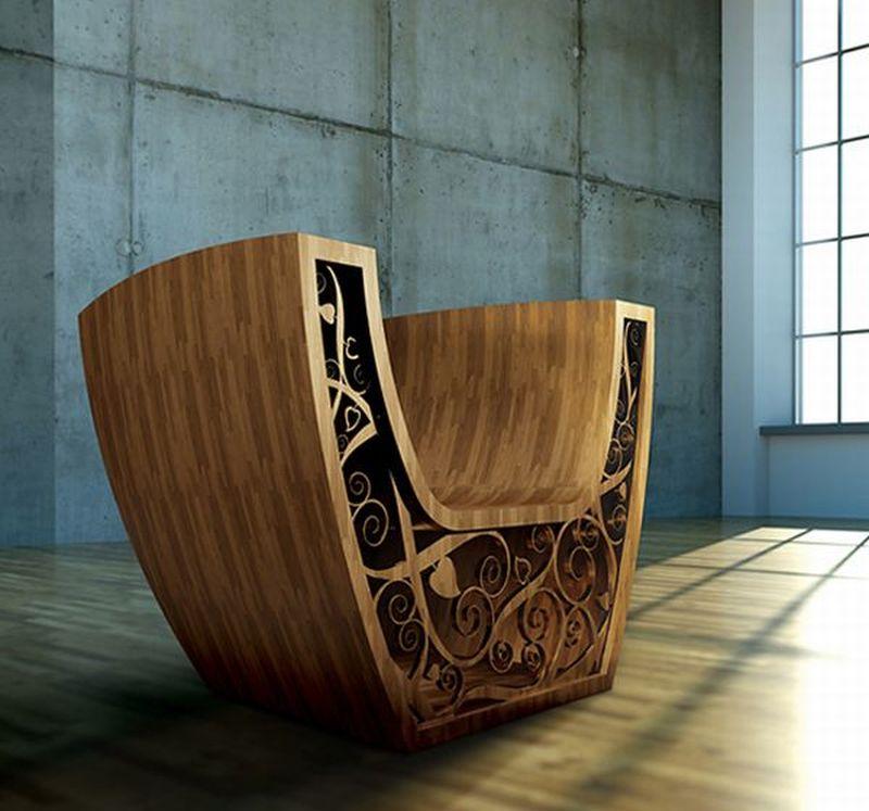 Illuminating Wooden chair by Valuma