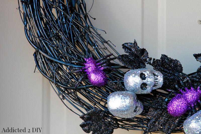Halloween Ghoulish glam wreath