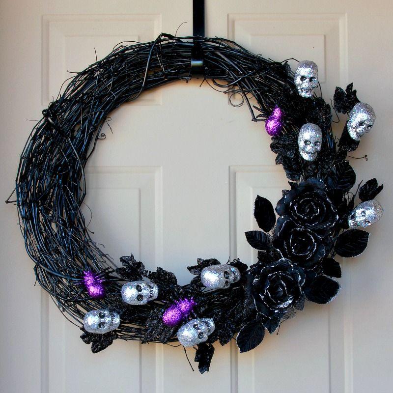Ghoulish glam Halloween wreath