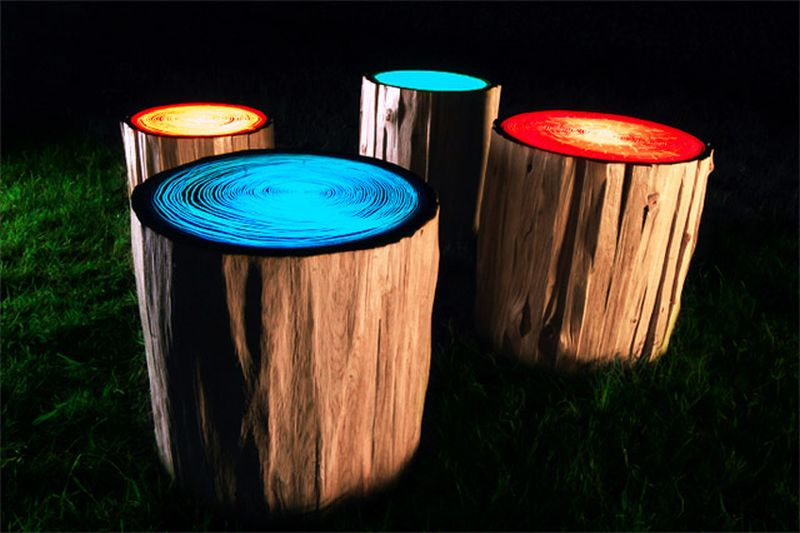 light stools by Judson Beaumont