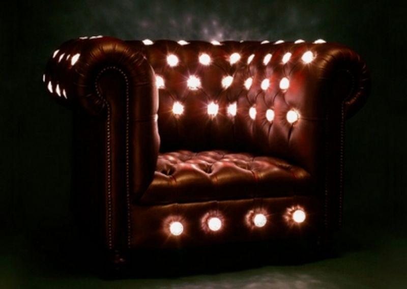 Illuminated vintage eco chair by Lee Broom