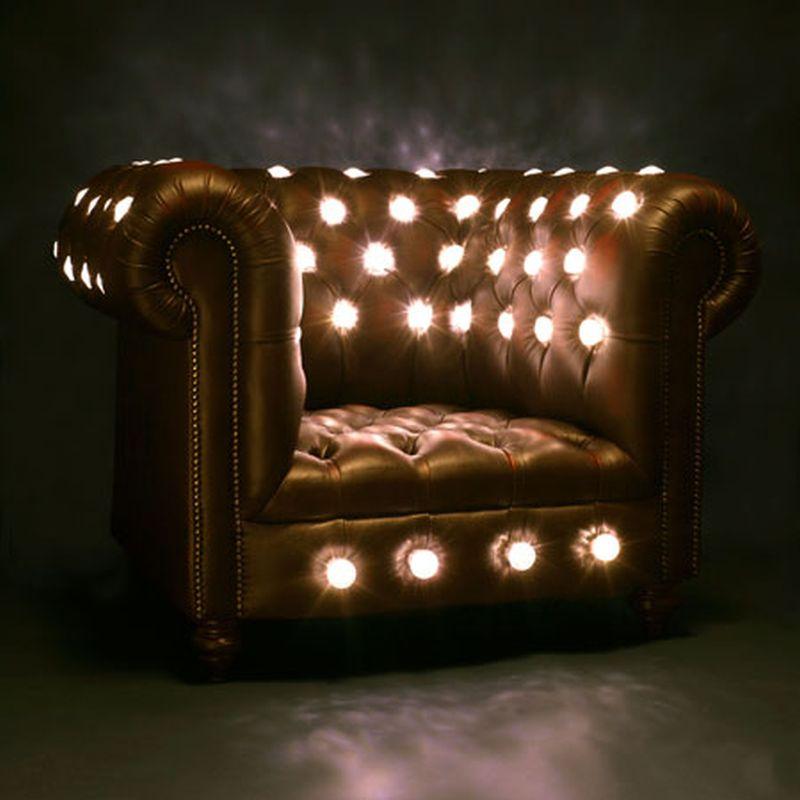 Illuminated eco chair