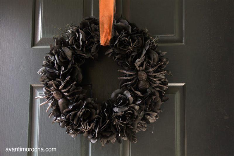 Avanti Black Morocha Halloween wreath