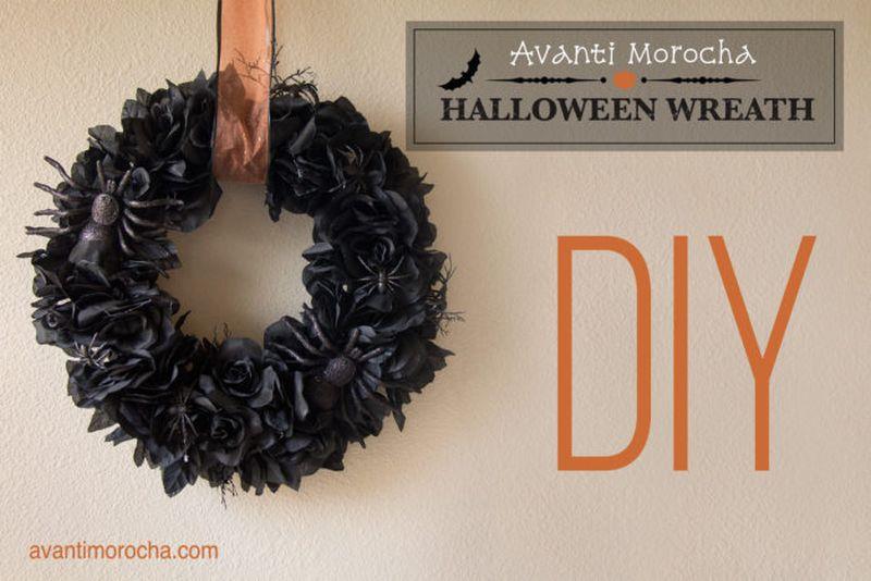 Avanti Morocha Halloween wreath