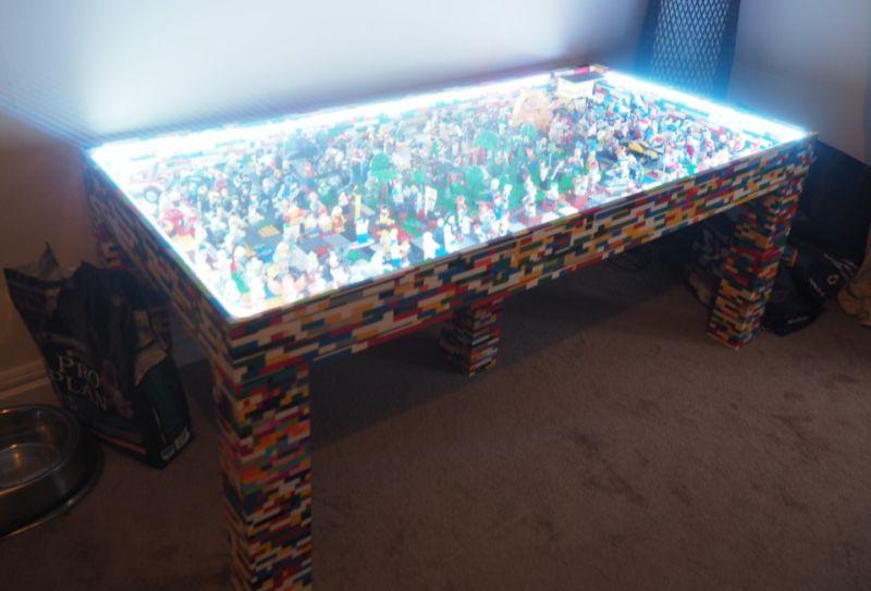 andmade illuminated Lego table