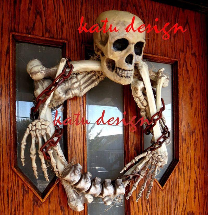 Original skeleton made wreath