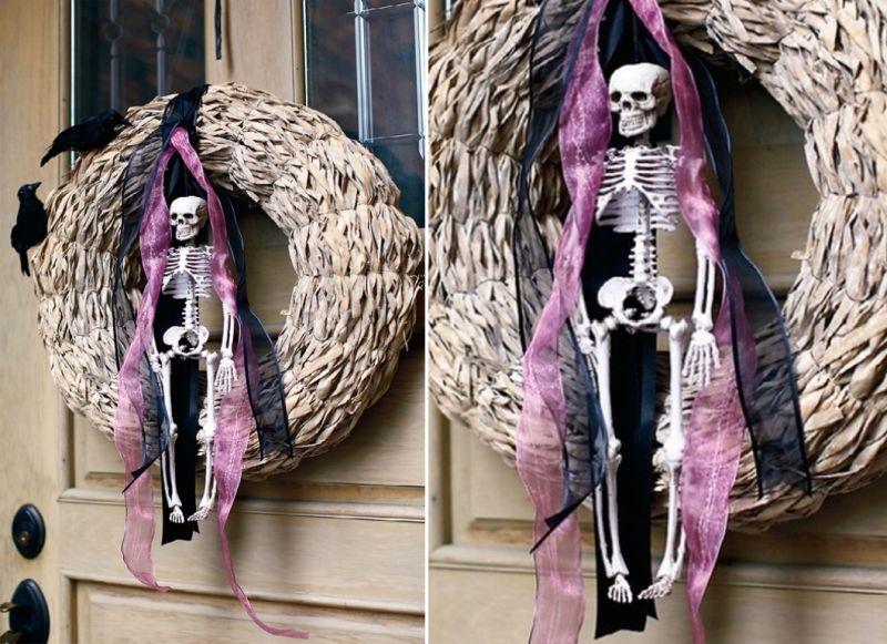 Cute skeleton wreath