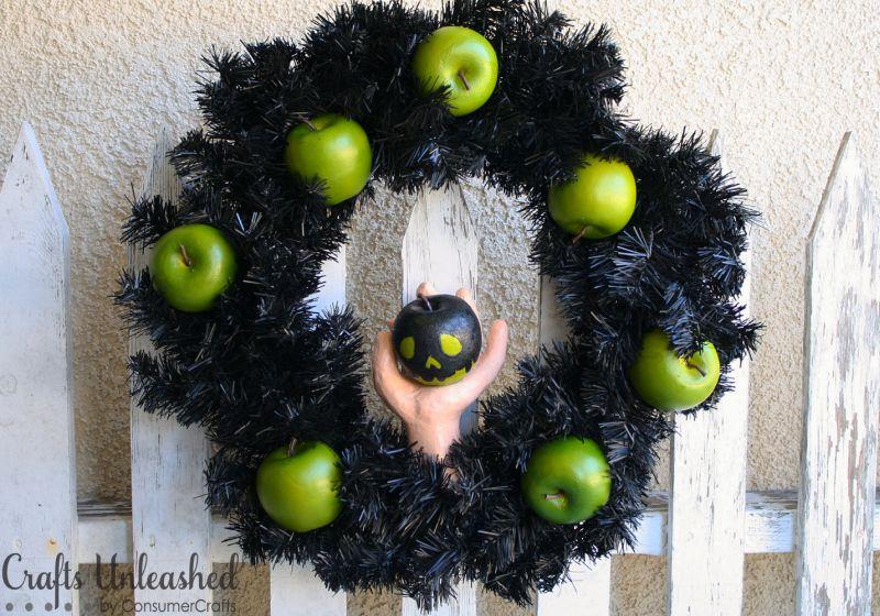 Poison apple Halloween wreath