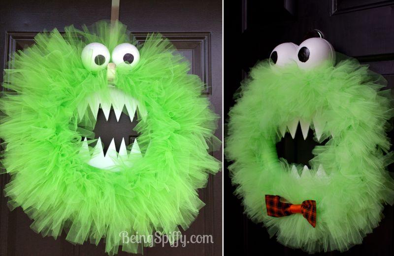 cute monster wreath