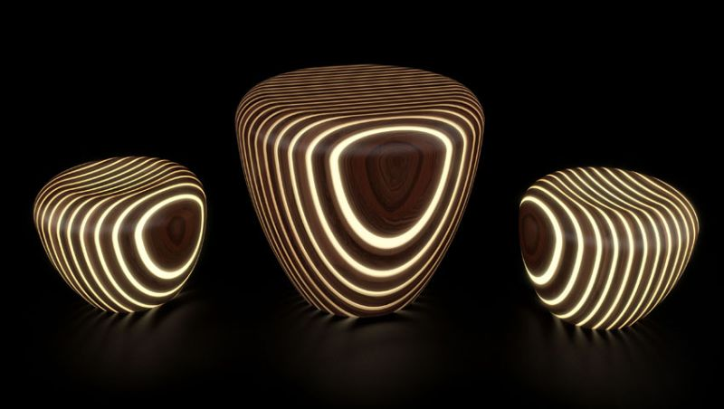 Bright Wood coffee tables by Giancarlo Zema