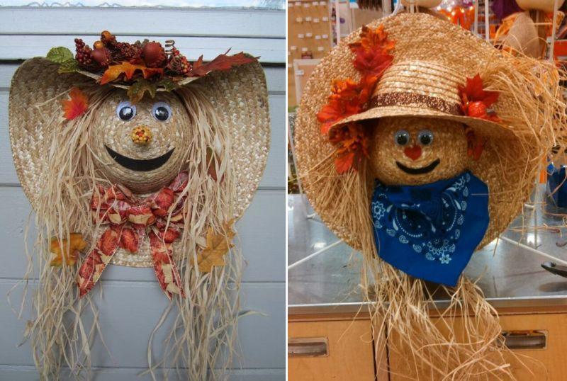 Scarecrow hat wreath
