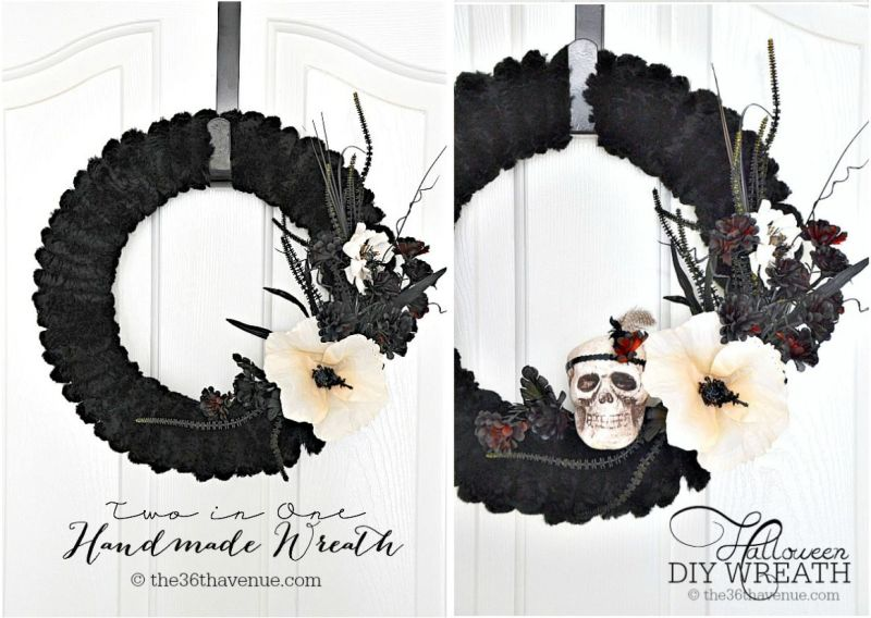 The black wreath with skull