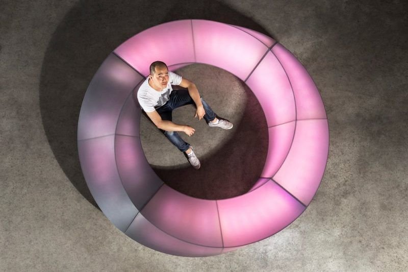 Glow in the dark: Mobius light bench