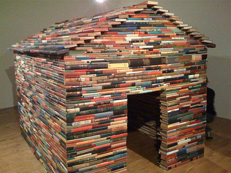 Playhouse made up old books