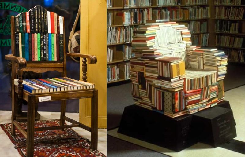 A Chair made of books