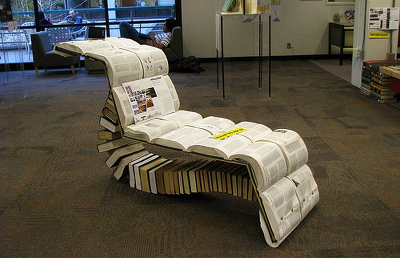 Chair made of books