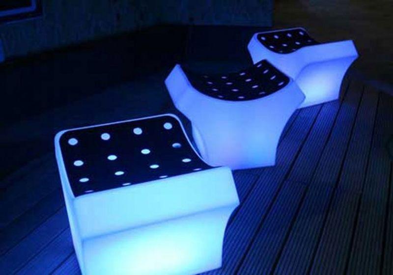 Futuristic glowing in the dark chair