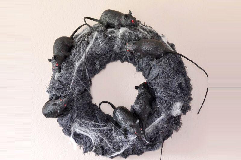 Rat nest Halloween wreath