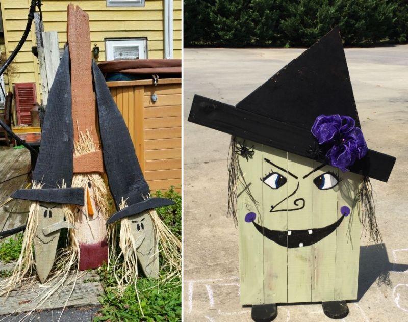 Halloween pallet witch