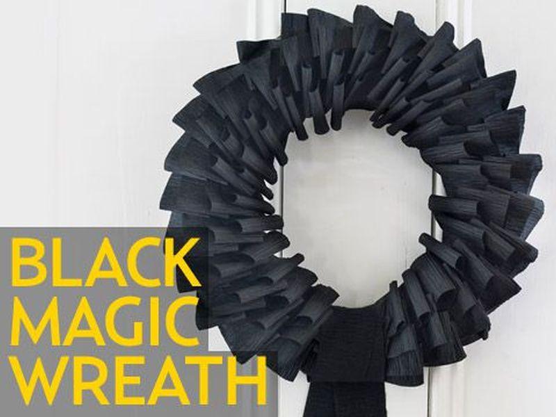 Black magic wreath