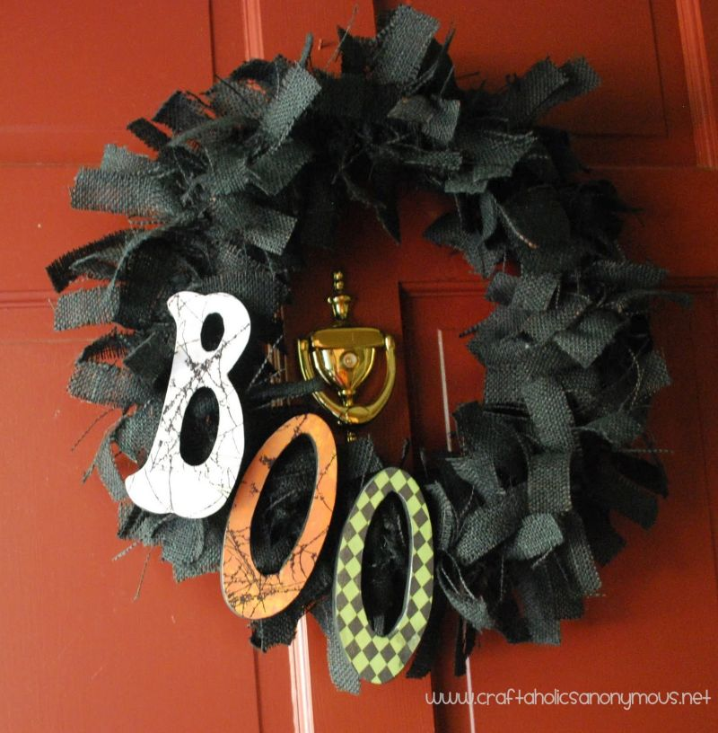 Boo-tiful Burlap Wreath