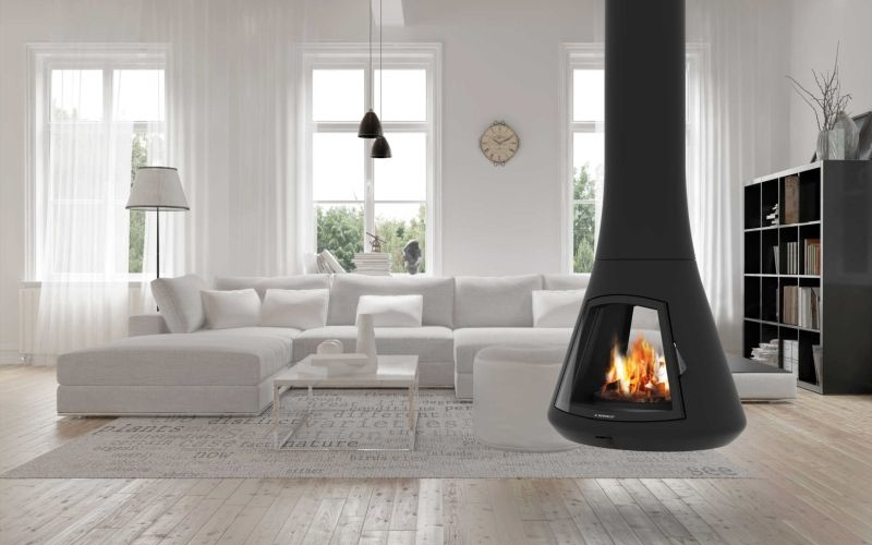Calista 917 fireplace is a sophisticated alternative to classic hearths