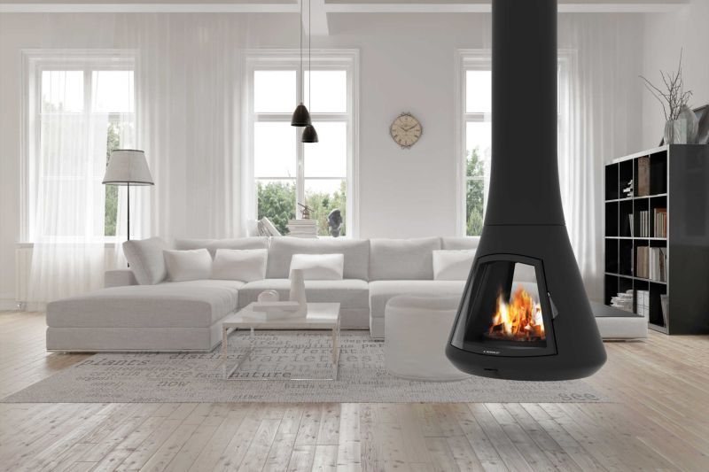 Calista 917 fireplace is a sophisticated alternative to for Alternative fireplaces