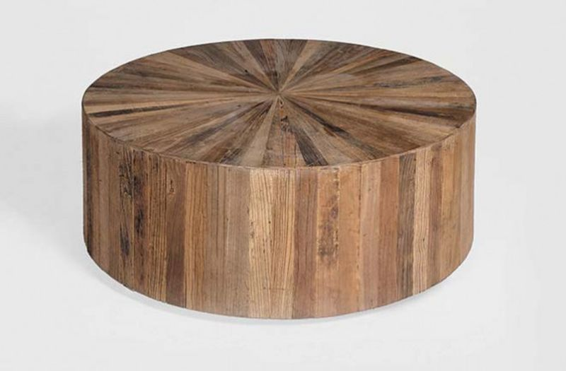 Coffee table made of reclaimed wood