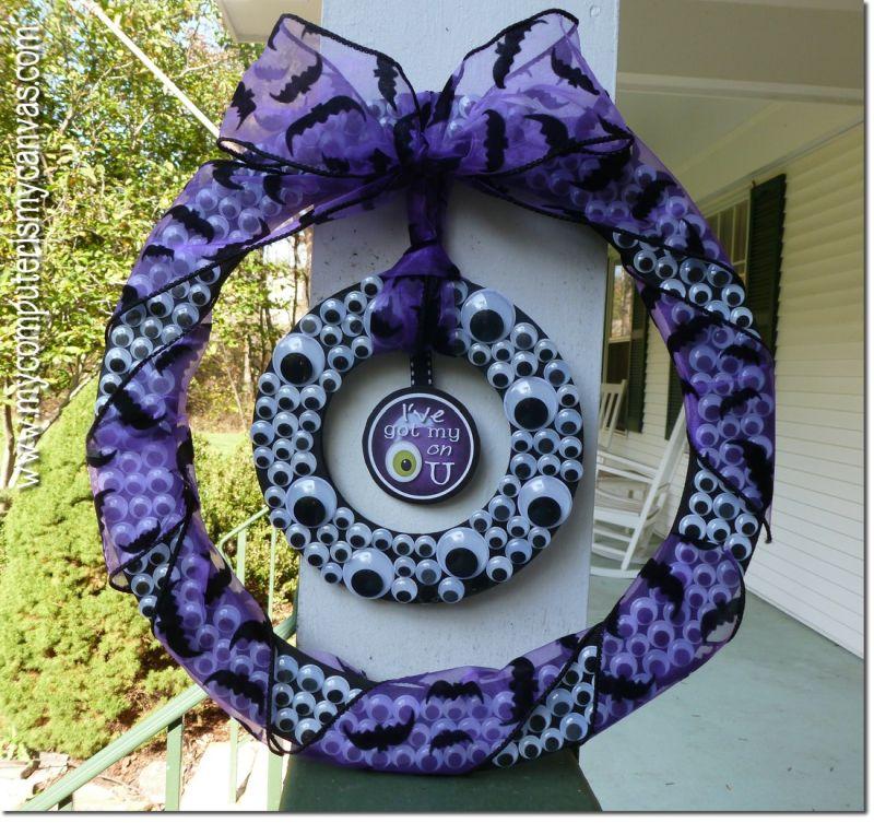 DIY Spooky Eyeball Wreath