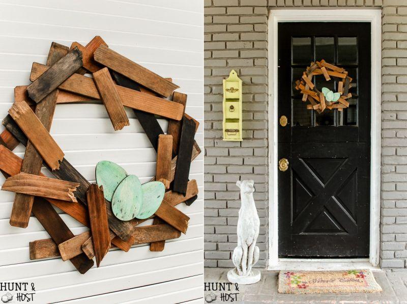 DIY Wood Bird Nest Wreath
