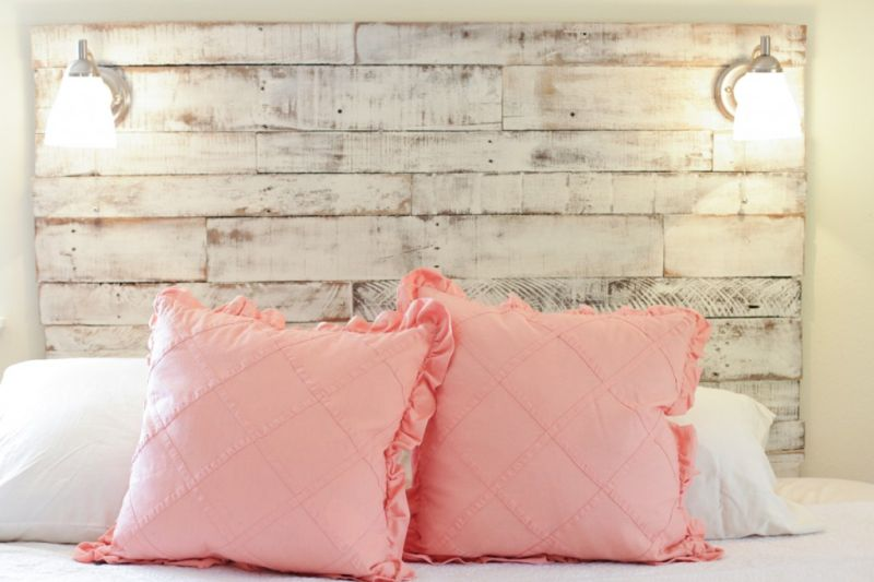 DIY distressed HeadBoard for Bed