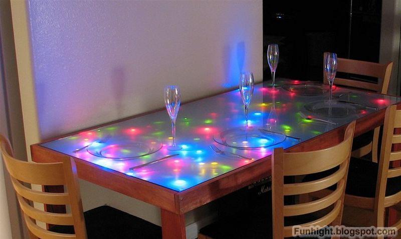 DIY glow dining table