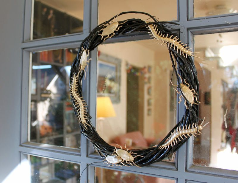 Golden Bug Halloween Wreath