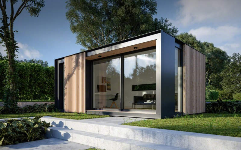 Glide Pod prefab backyard cabin by Pod Space is winner of Red Dot Product Design award 2017