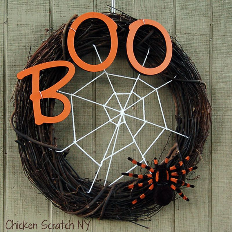 Grapevine Spider Wreath