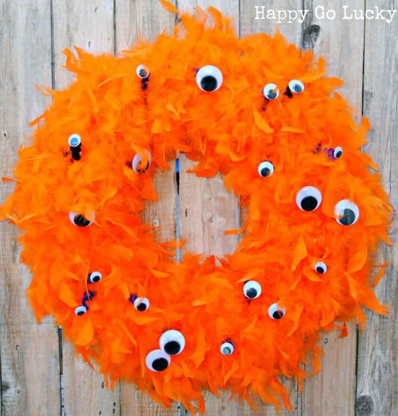 Halloween Monster Eye Wreath