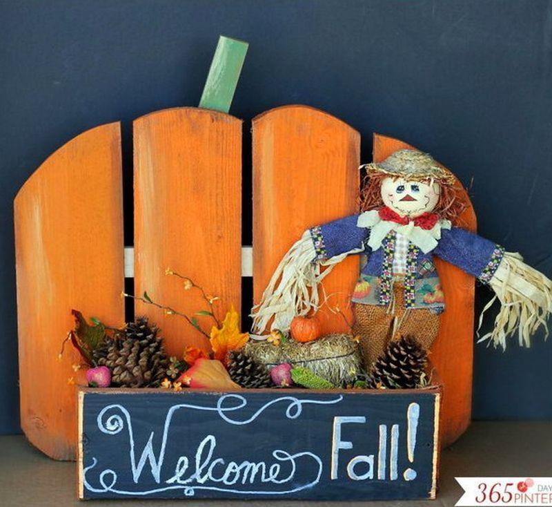 Pallet Halloween welcome board