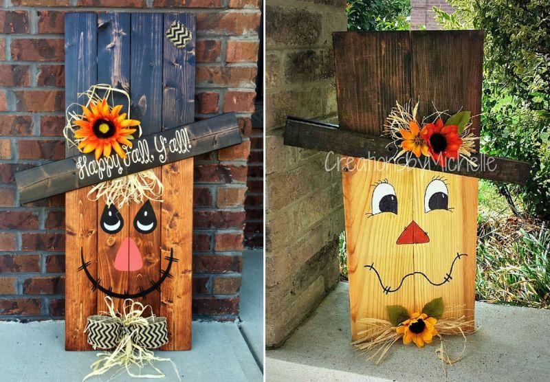 Pallet Happy Halloween welcome board